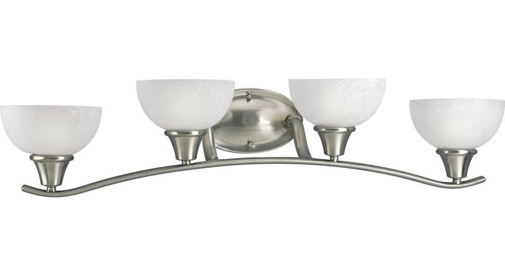 Sentura Collection Brushed Nickel 4-light Wall Sconce
