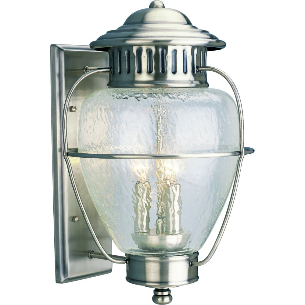 Nantucket Collection Colonial Silver 3-light Wall Lantern