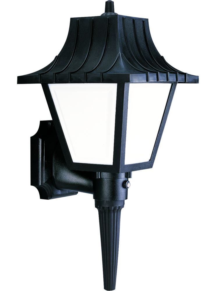 Mansard Collection Textured Black 1-light Wall Lantern