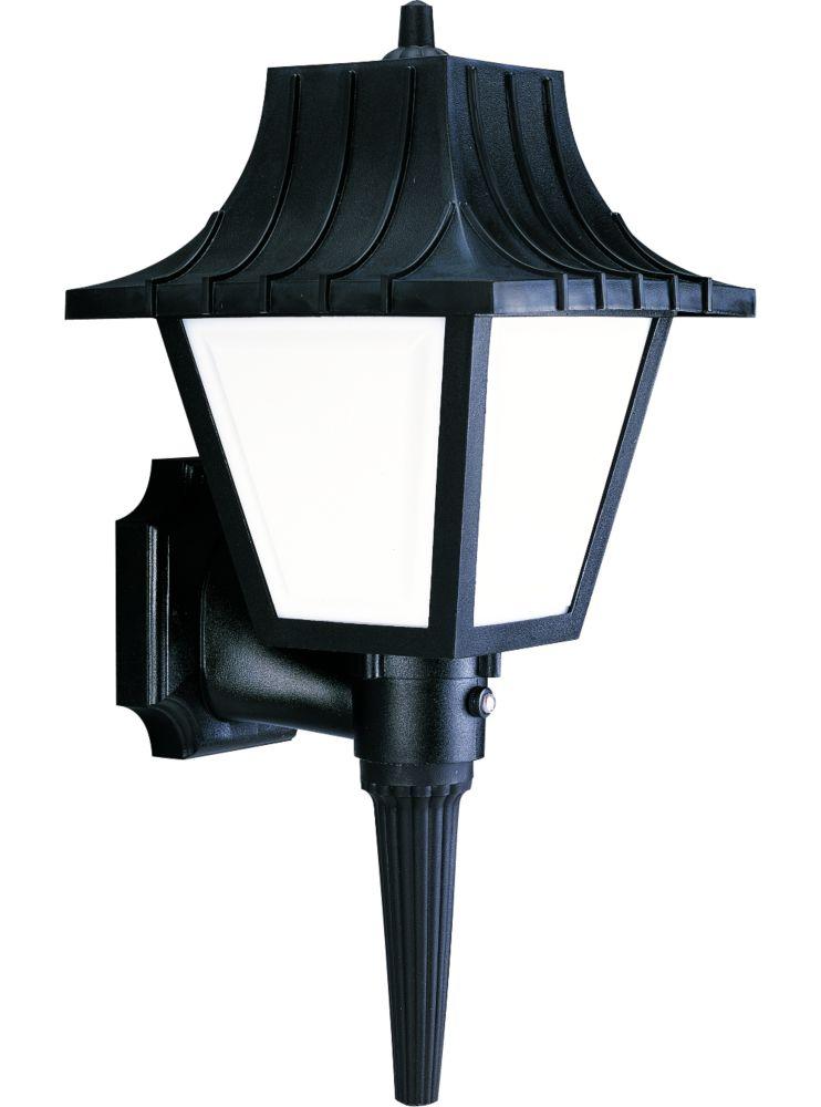 Mansard Collection Textured Black 1-light Wall Lantern