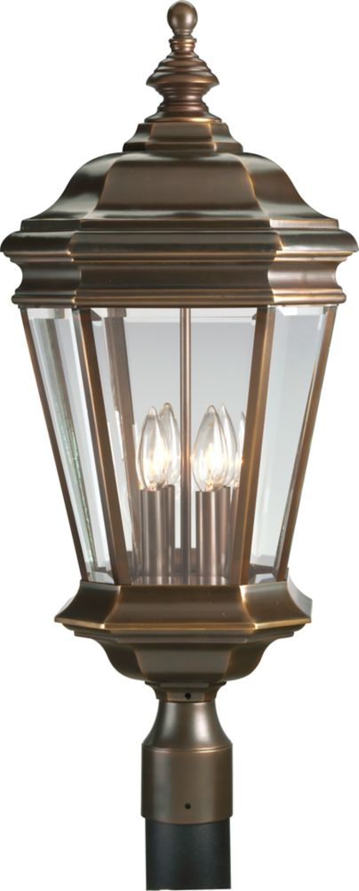 Crawford Collection Oil Rubbed Bronze 4-light Post Lantern