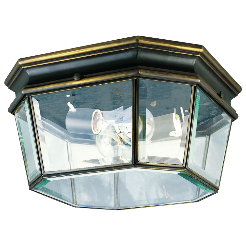 Crawford Collection Oil Rubbed Bronze 2-light Outdoor Flushmount