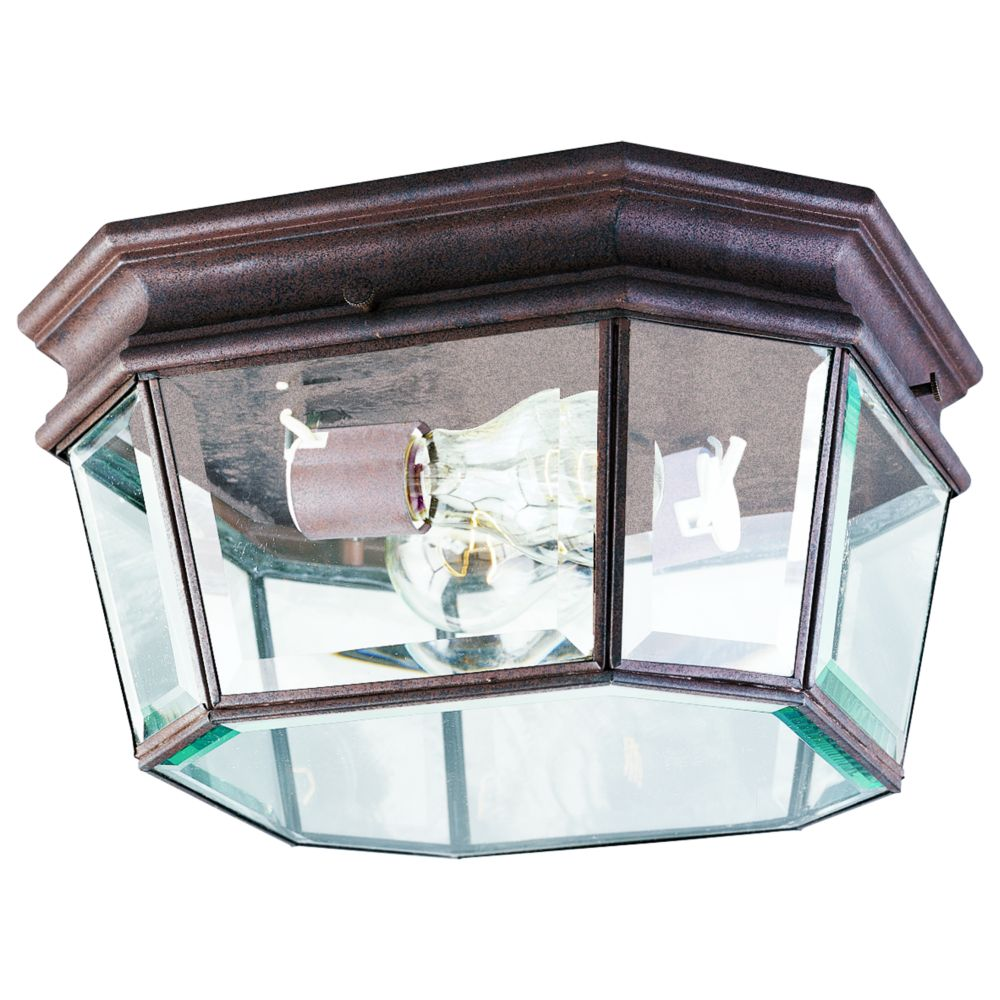 Crawford Collection Cobblestone 2-light Outdoor Flushmount