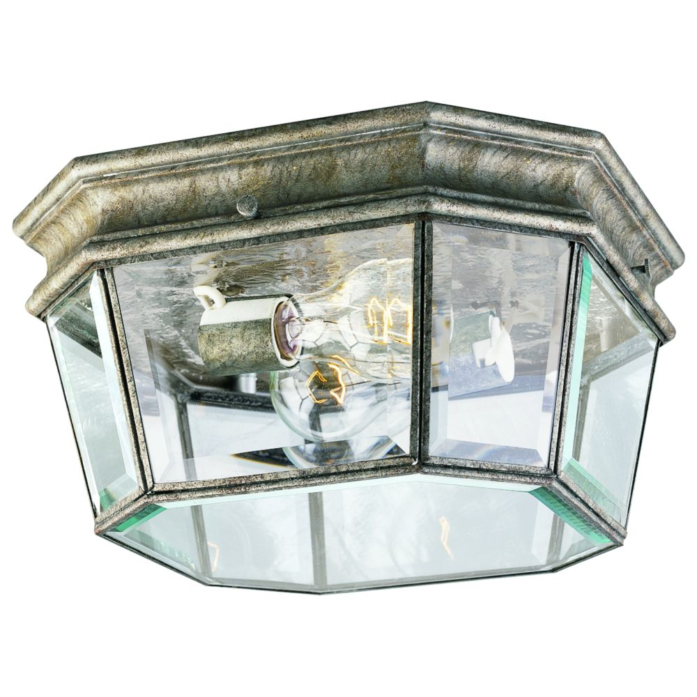 Crawford Collection Golden Baroque 2-light Outdoor Flushmount