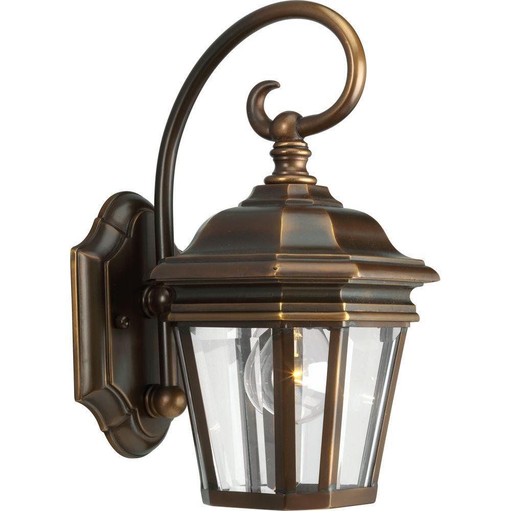 Progress Lighting Crawford Collection Oil Rubbed Bronze 1-light Wall Lantern