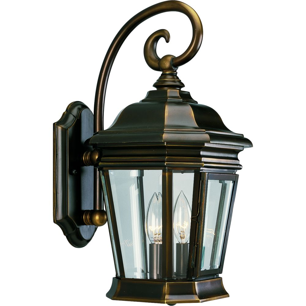 Crawford Collection Oil Rubbed Bronze 2-light Wall Lantern 7.85247E 11 in Canada