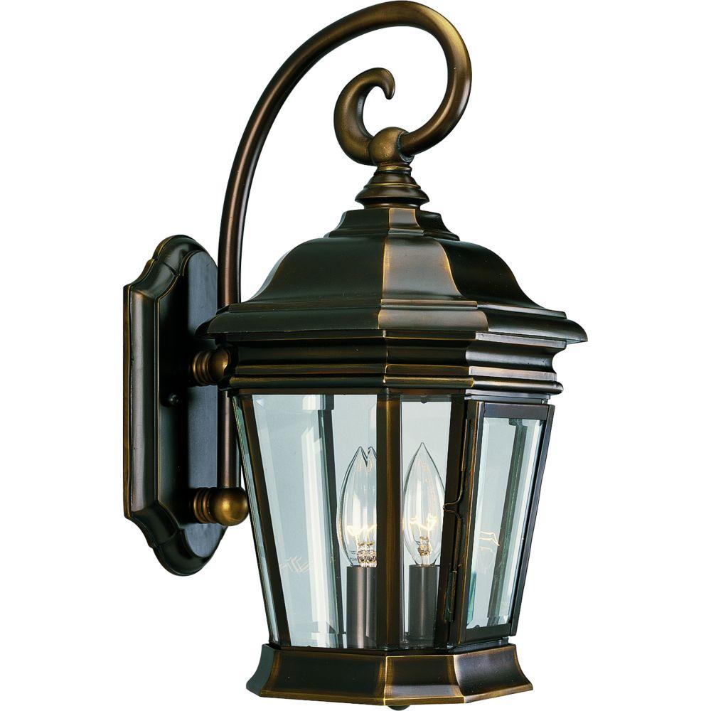 Lanterne murale à 2 Lumières, Collection Crawford - fini Bronze Lustre