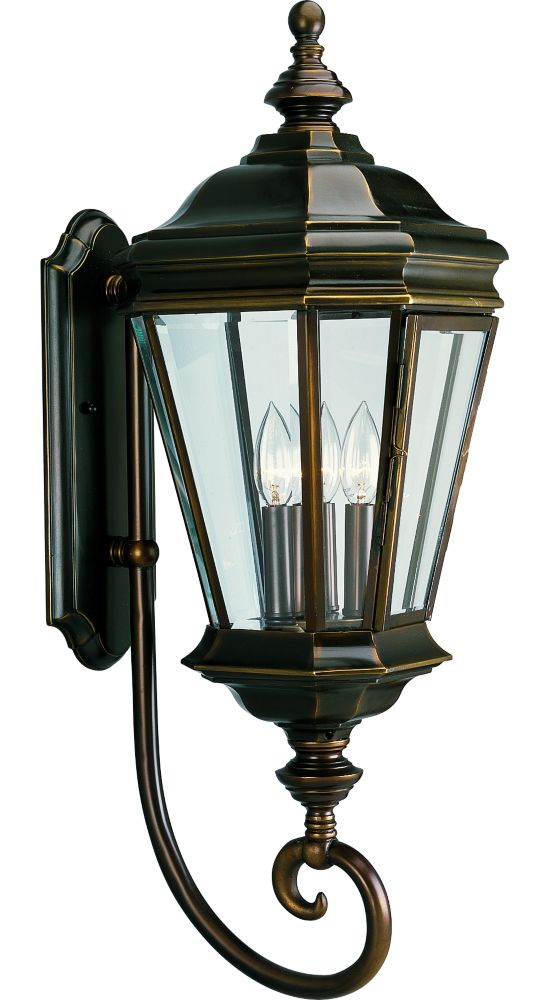 Crawford Collection Oil Rubbed Bronze 3-light Wall Lantern