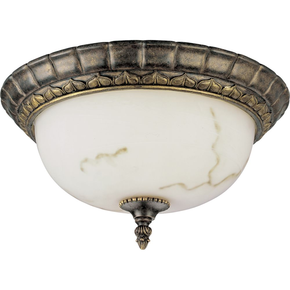 Palmero Collection Weathered Bronze 1-light Flushmount