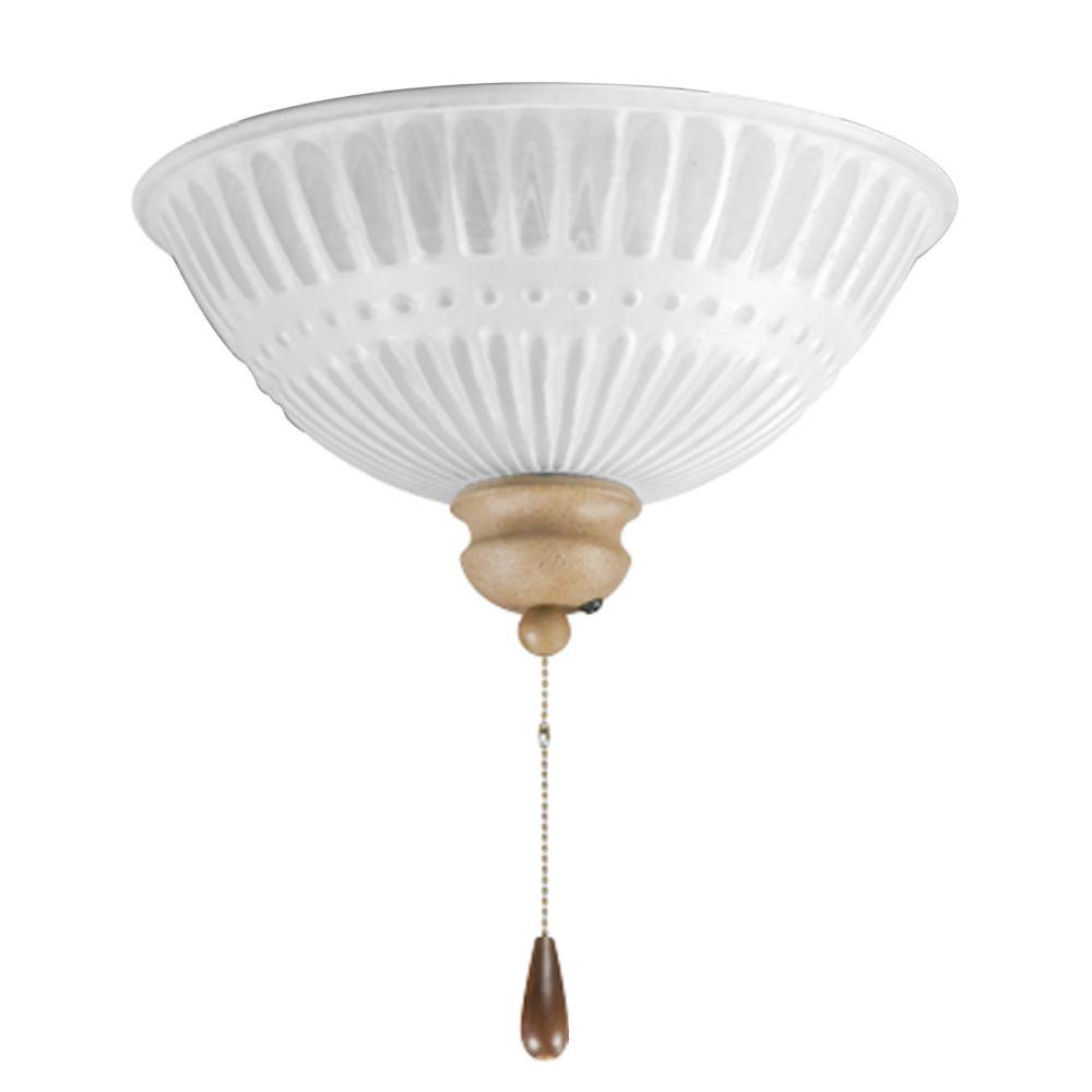 Luminaire de ventilateur de plafond à 2 Lumières, Collection Renaissance - fini Meule