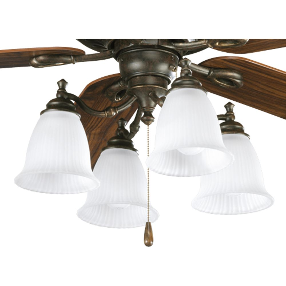 Renovations Collection Forged Bronze 4-light Ceiling Fan Light