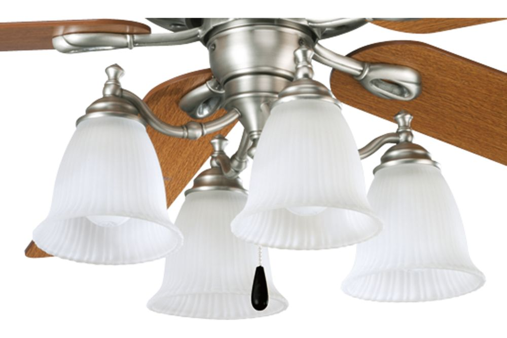 Renovations Collection Antique Nickel 4-light Ceiling Fan Light