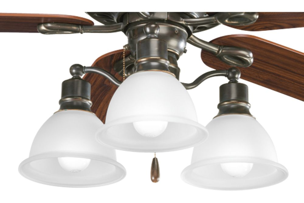 Madison Collection Antique Bronze 3-light Ceiling Fan Light