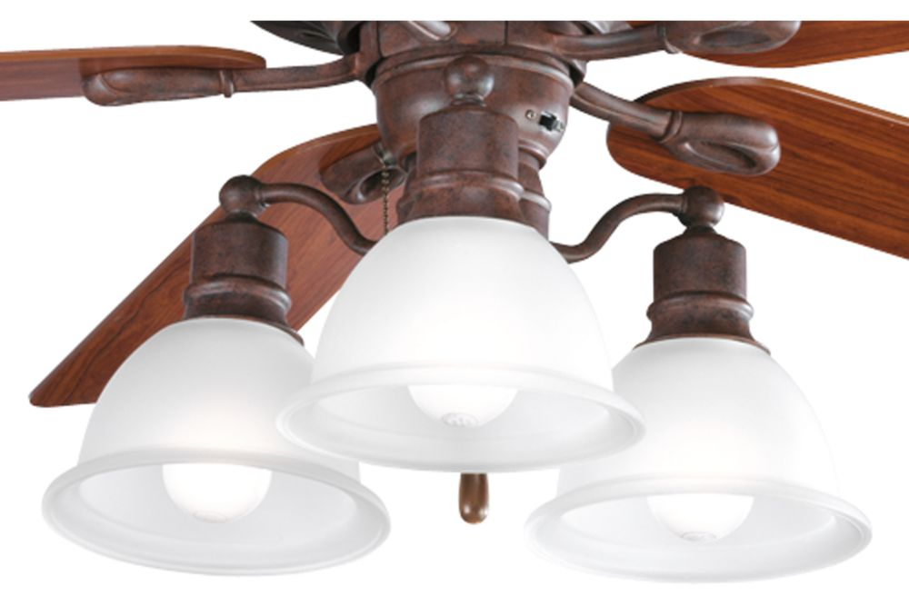 Madison Collection Cobblestone 3-light Ceiling Fan Light