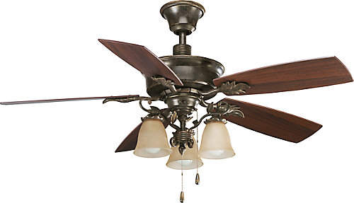 52 In Eden Collection Forged Bronze Ceiling Fan