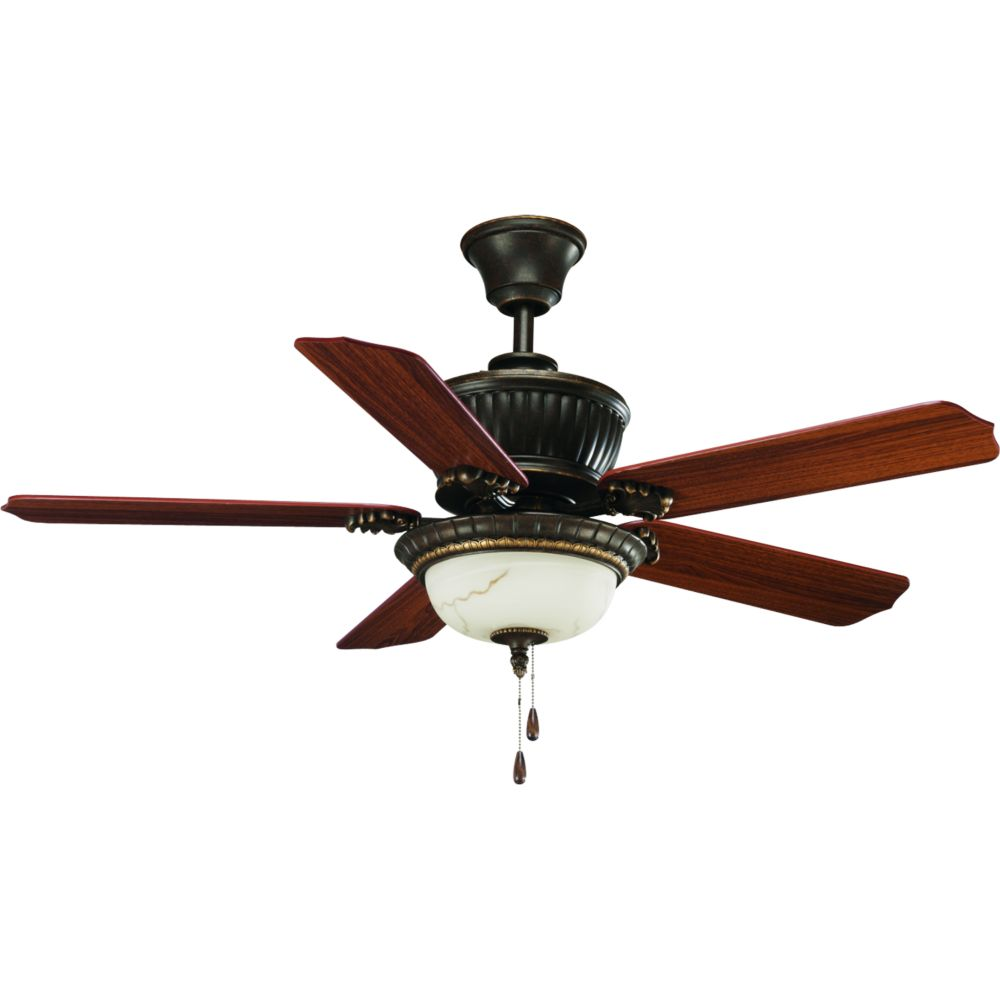 Ventilateur de plafond 52 po, Collection Palmero - fini Bronze Patiné