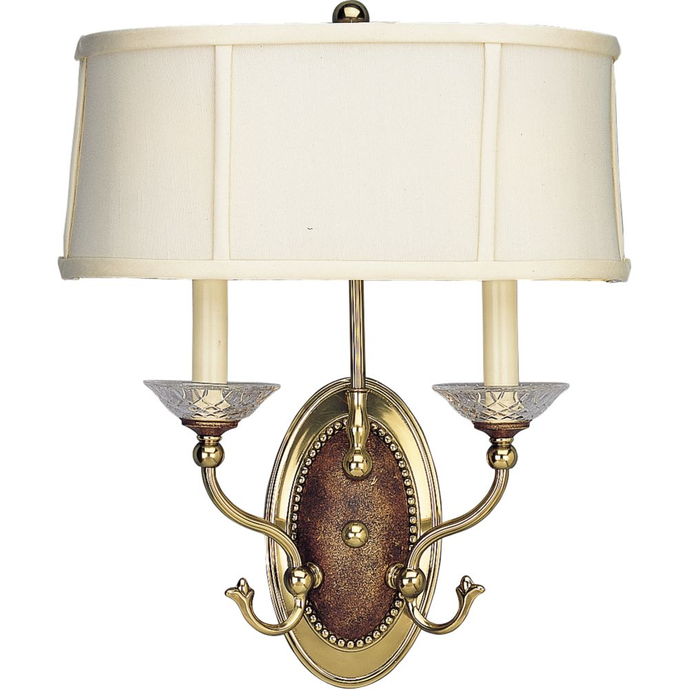 Versailles Collection Burnished Brass 2-light Wall Sconce