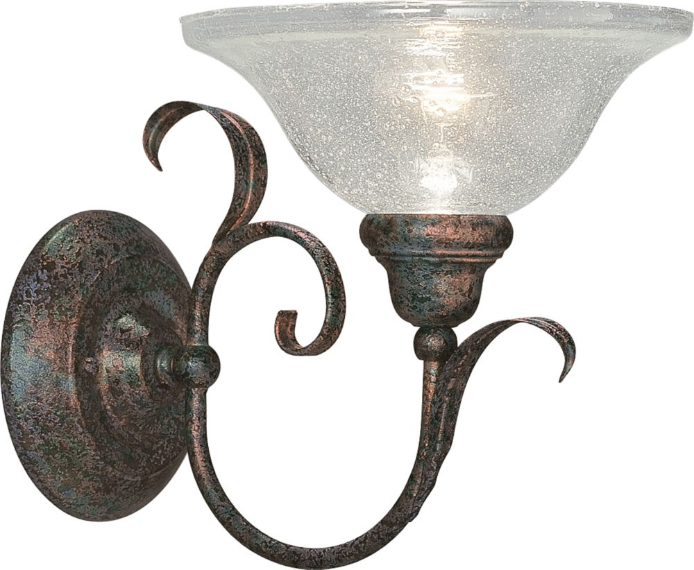 Athena Collection Copper Verde 1-light Wall Sconce