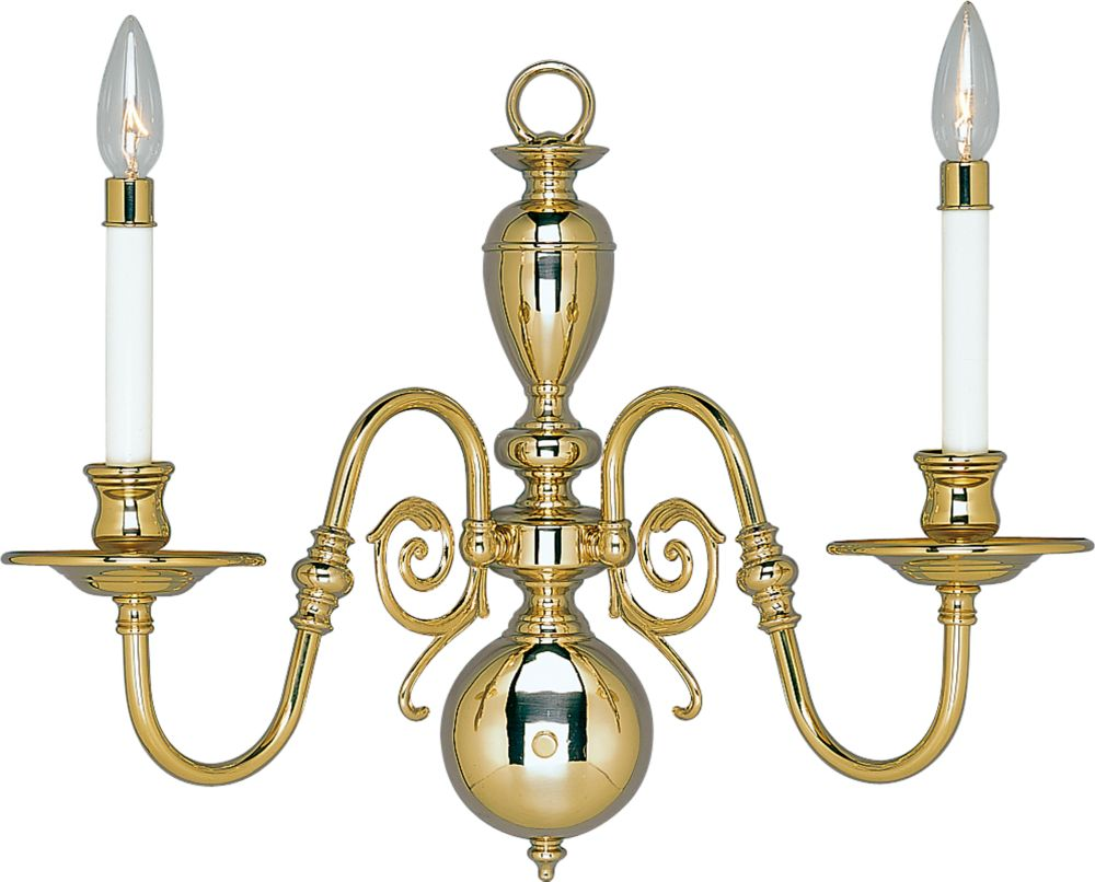 Americana Solid Brass Candelabra Wall Sconce