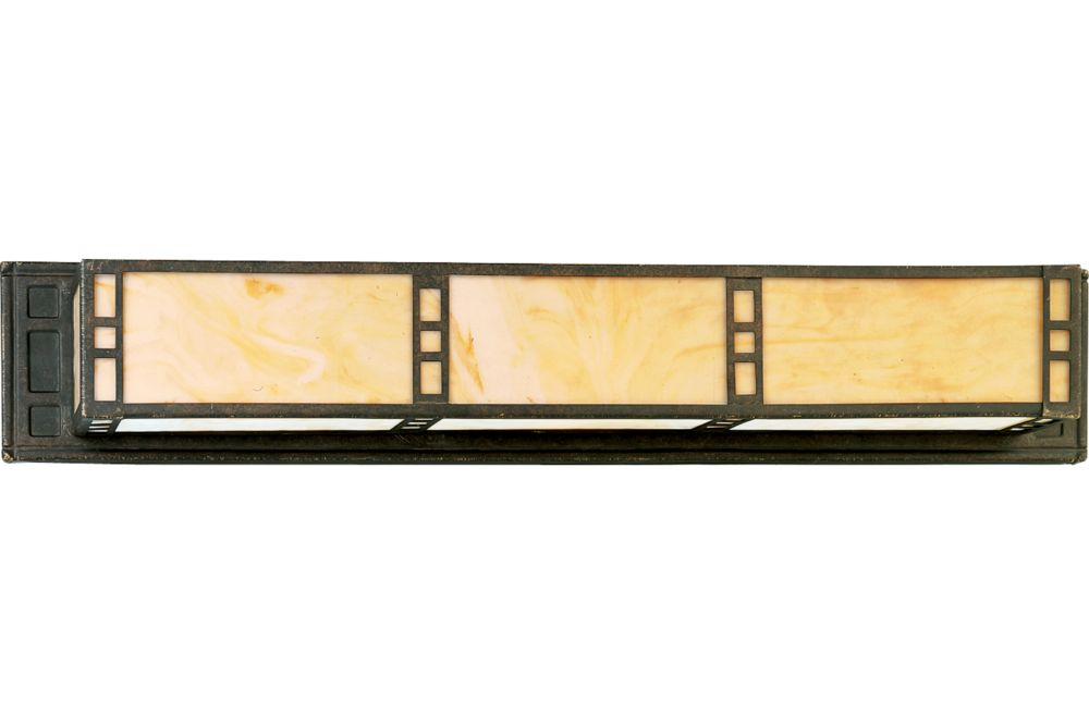 Arts and Crafts Collection Weathered Bronze 3-light Wall Bracket