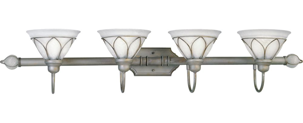 Verona Collection Oxford Silver 4-light Wall Bracket
