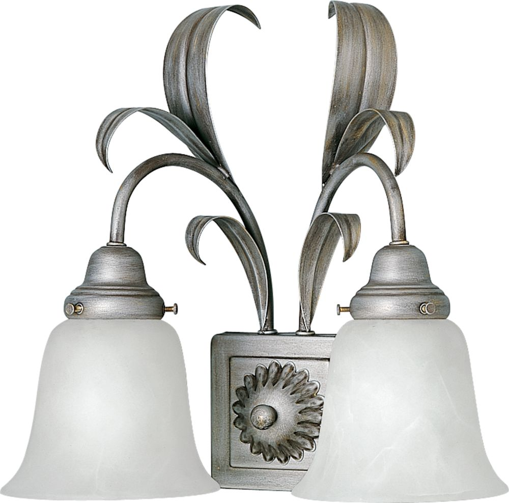 Cameron Collection Oxford Silver 2-light Wall Bracket