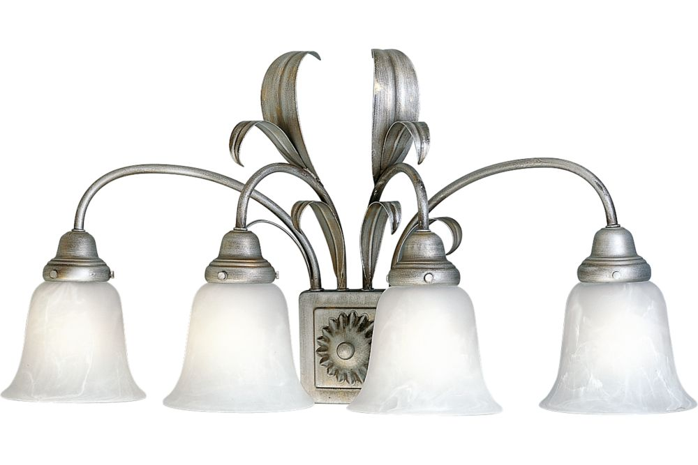 Cameron Collection Oxford Silver Wall Bracket Fixture � 4 Lights