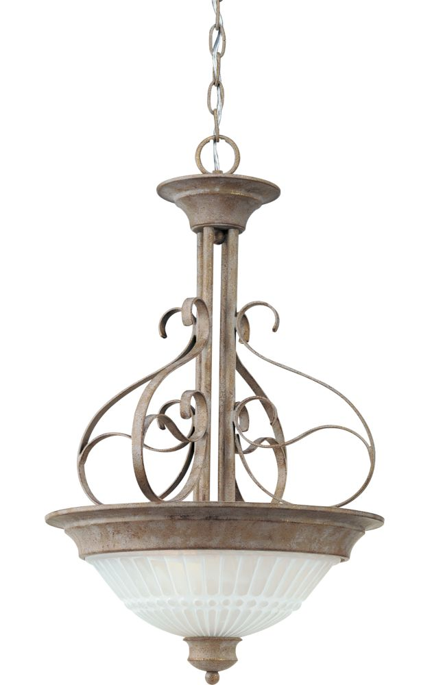 Renaissance Millstone Pendant Light with Alabaster Glass