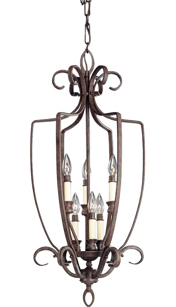 Berkley Collection Cobblestone 6-light Chandelier