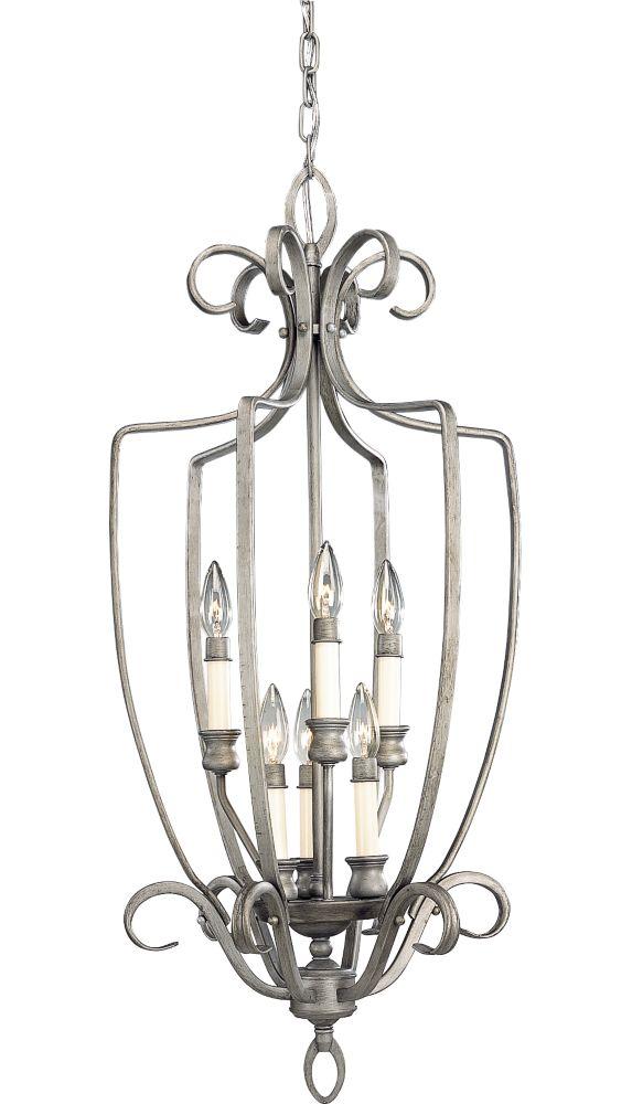 Berkley Collection Oxford Silver 6-light Chandelier