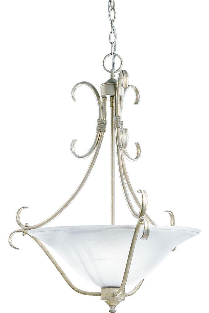 Masira Venetian Gold Chandelier with Alabaster Glass