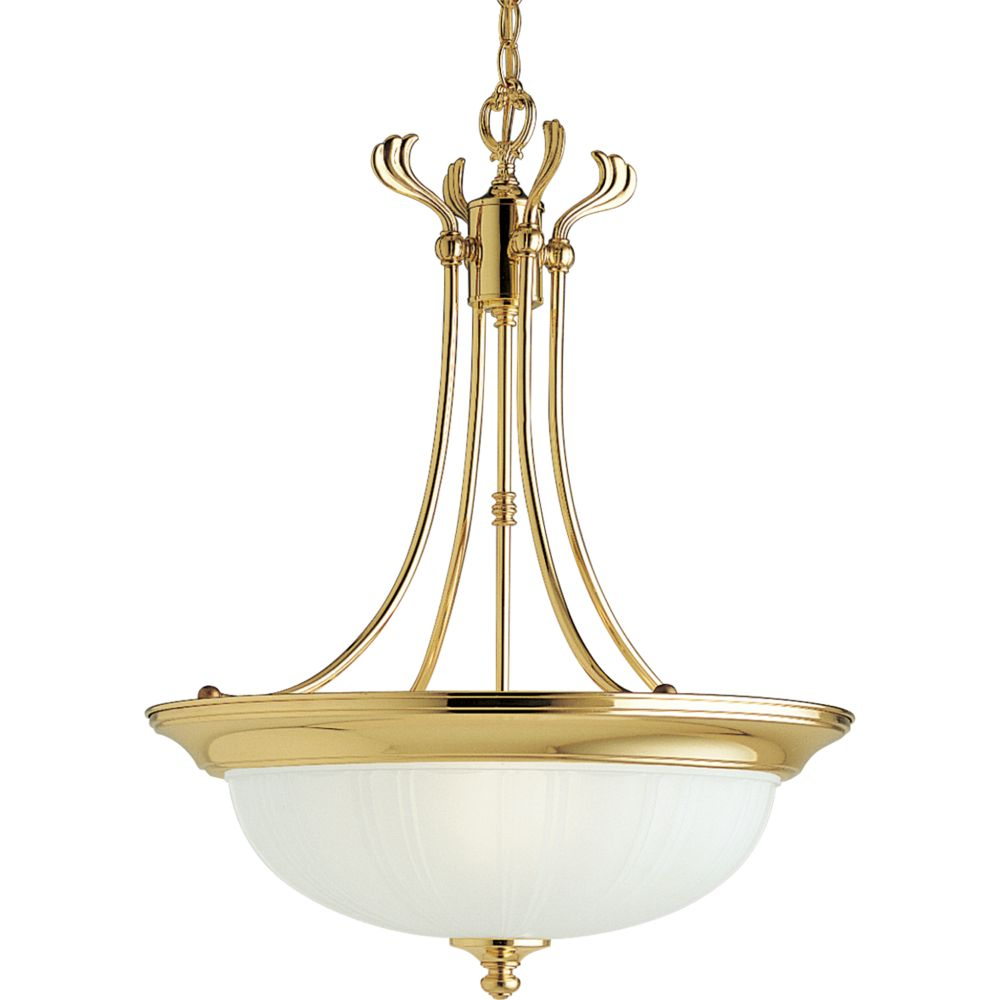 Prescott Collection Polished Brass 3-light Chandelier