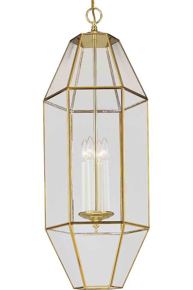 Polished Brass 4-light Foyer Pendant