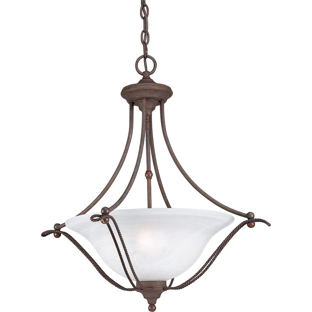 Avalon Collection Cobblestone 3-light Chandelier