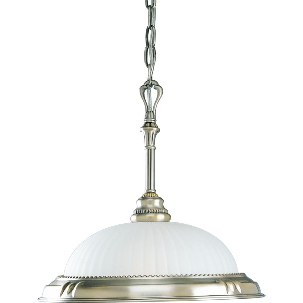 Huntington Collection Colonial Silver 1-light Pendant