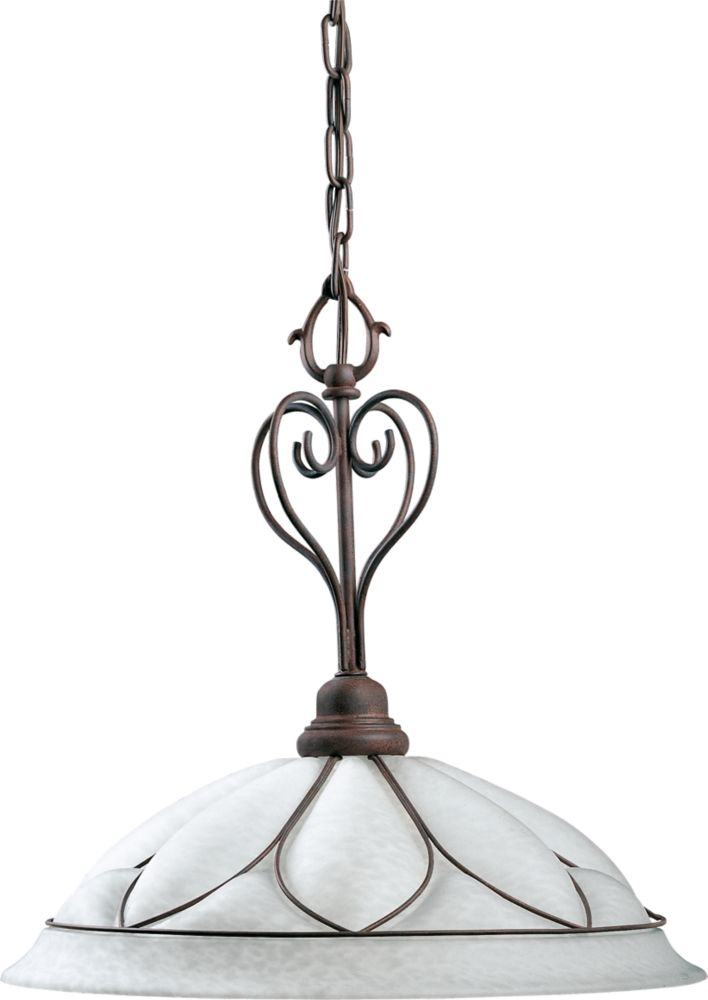 Verona Collection Cobblestone 1-light Pendant