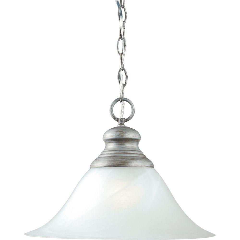 Suspension à 1 Lumière, Collection Bedford - fini Gris Argenté