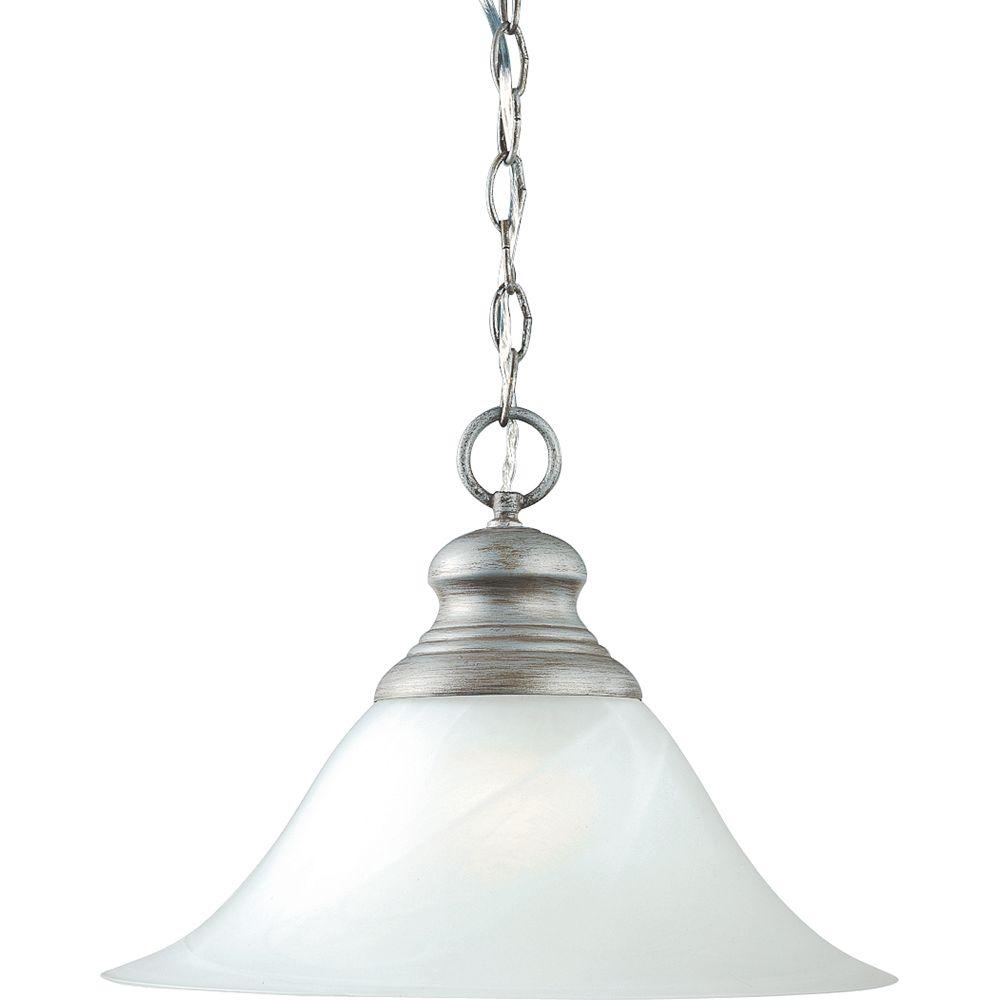 Progress Lighting Suspension à 1 Lumière, Collection Bedford - fini Gris Argenté