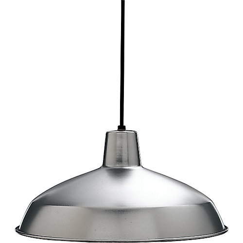 Brushed Steel 1 Light Pendant