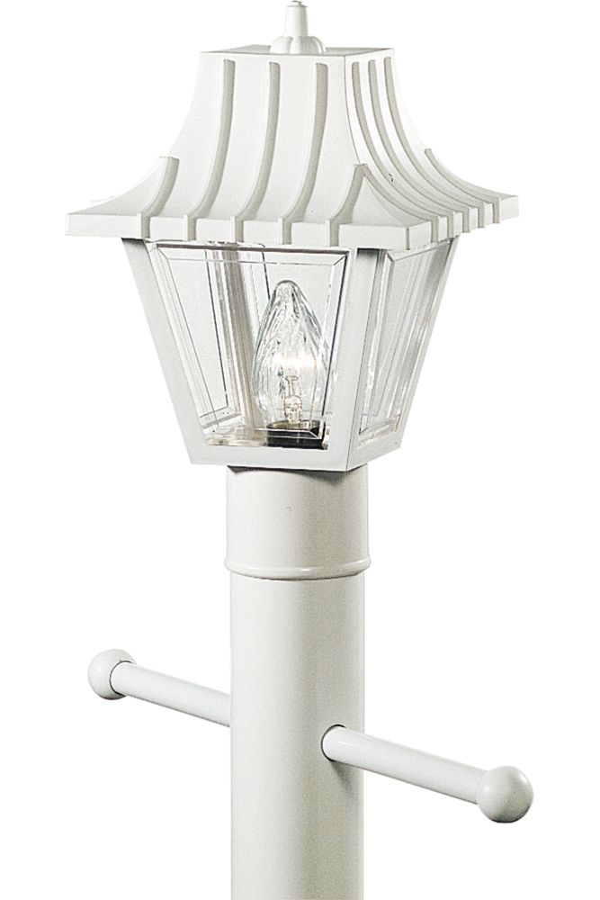 Mansard Collection White 1-light Post Lantern