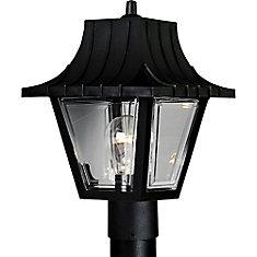 Mansard Collection Outdoor Textured Black Post Lantern