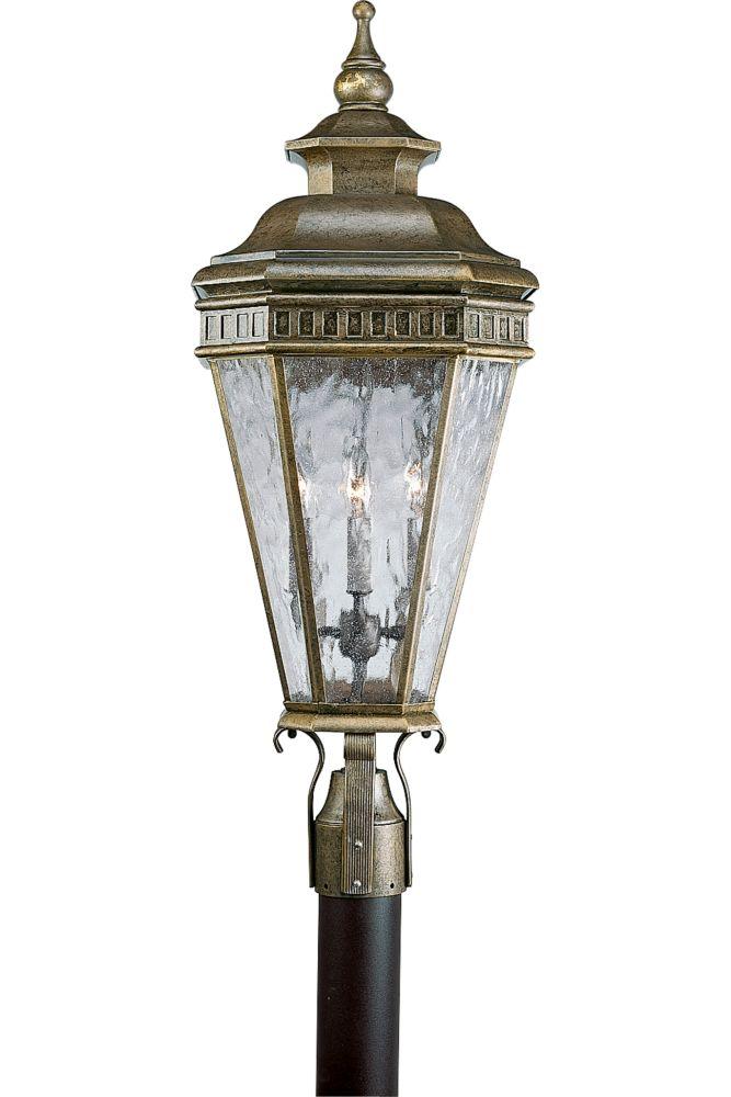 Georgian Collection Burnished Chestnut 4-light Post Lantern