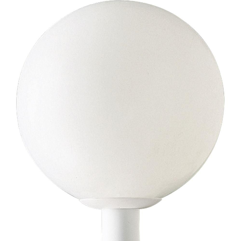 Progress Lighting Globe Collection White 1-light Post Lantern