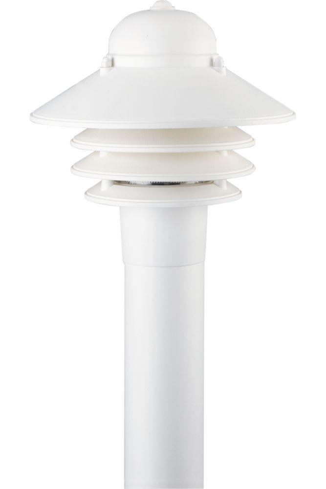 Newport Collection White 1-light Post Lantern