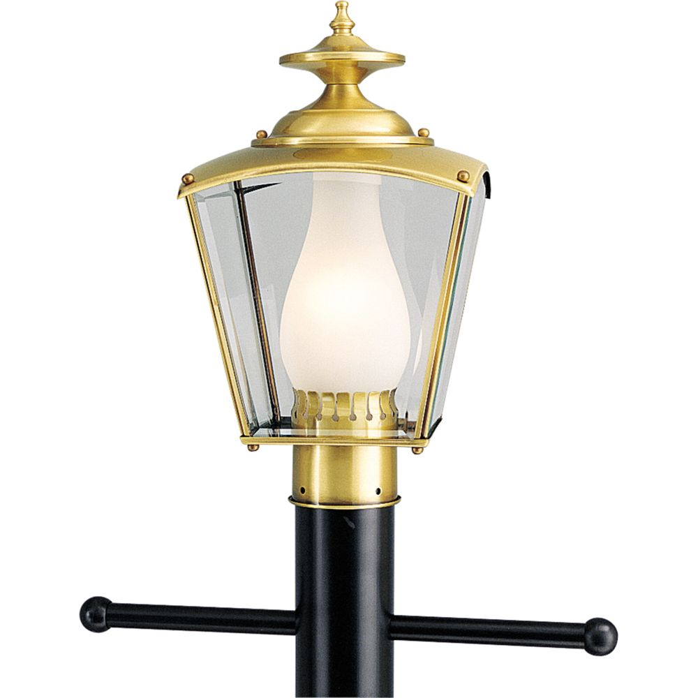 BrassGUARD Collection Polished Brass 1-light Post Lantern