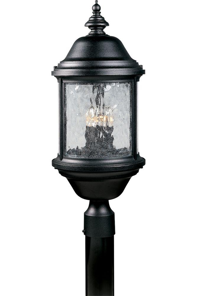 Ashmore Collection Textured Black 3-light Post Lantern