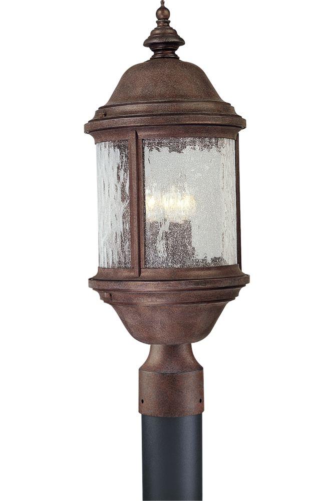 Ashmore Collection Cobblestone 3-light Post Lantern