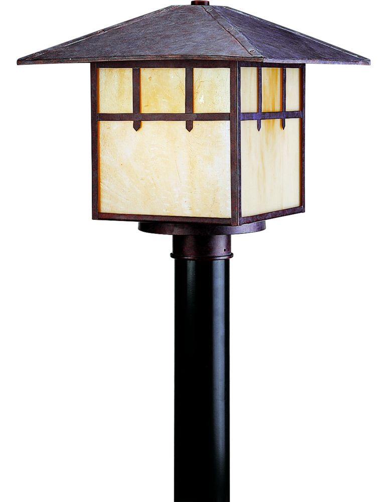 Mission Collection Cobblestone 2-light Fluorescent Post Lantern
