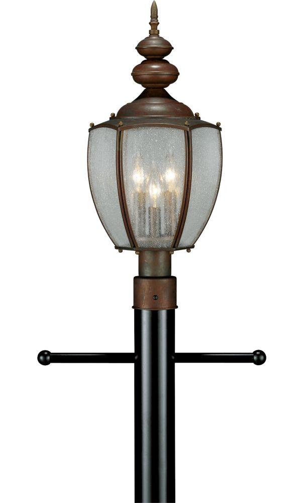 Carriage Classics Collection Roman Bronze 3-light Post Lantern