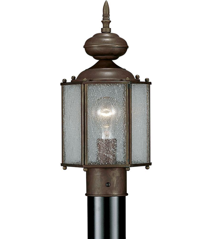 Carriage Classics Collection Roman Bronze 1-light Post Lantern